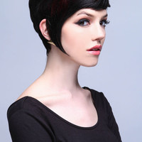SHORT CUT WITH HIGHLIGHTS SYNTHETIC FULL WIG
