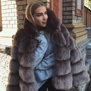 Faux Fur  Elegant Thick June Jacket