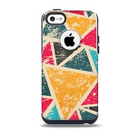 The Chipped Colorful Retro Triangles Skin for the iPhone 5c OtterBox Commuter Case