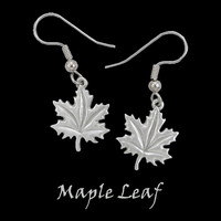 Maple Leaf Earrings in Pewter by Frederick Design