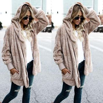 MDIGHQ9 Taupe - Women's Long Oversized Loose Knitted Sweater Cardigan Outwear Coat New