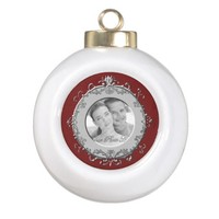 Classic Scrolls Photo Frame (Silver) Ornaments