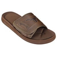 Texas Longhorns Memory Foam Slide Sandals - Adult (Brown)