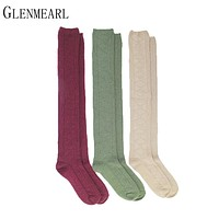 3pairs/lot Wome Stockings Compression Fashion Brand Coolmax Fall Winter Warm Thick Hosiery Female High Knee Boot Long Stockings