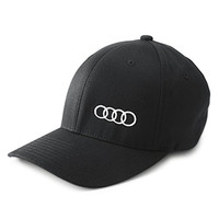 Genuine Audi Classic Flexfit Baseball Cap Hat - Black - SM/MD