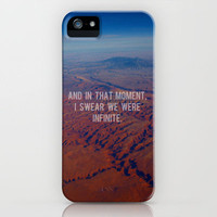 And in That Moment, I Swear We Were Infinite iPhone Case by Josrick | Society6