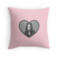 'I Heart Fiona Apple' Throw Pillow by whatarefrogs
