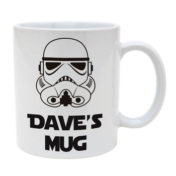 custom name star wars mug stormtrooper mugs Tea art milk  wine beer friend gift novelty  home decal birthday's gifts