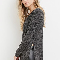 Marled High-Slit Top