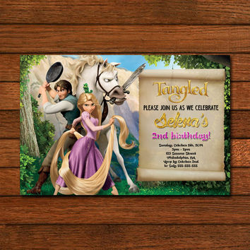 Tangled Rapunzel Invitation Invitation