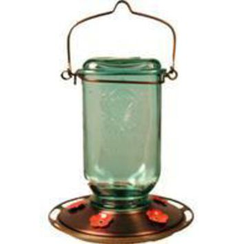 Classic Brands - Humming - Mason Jar Glass Hummingbird Feeder