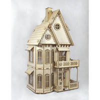 Gingerbread Victorian Dollhouse kit Doll by JourneyProductions