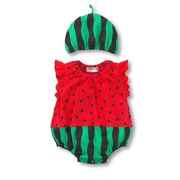 BUY TWO GET ONE FREE  Romper+Hat 2 pcs Infant Baby Boys Clothes