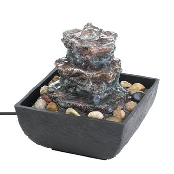 Water Fountains Indoor, Small Tabletop Water Fountain, Polyresin