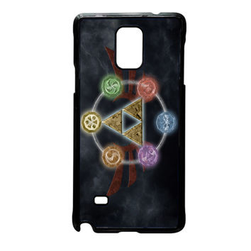 Zelda Triforce Element Samsung Galaxy Note 4 Case
