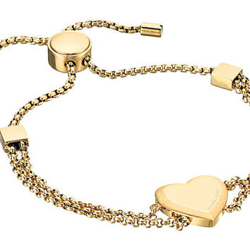 Michael Kors Tone Heart Slider Bracelet Gold - Zappos.com Free Shipping BOTH Ways