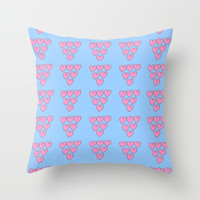 heart and blue 3 -love,romantism,romantic,cute,beauty,tender, tenderness Throw Pillow by oldking