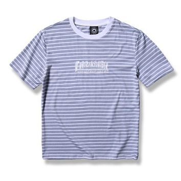 Thrasher Woman Men Fashion Stripe Shirt Top Tee