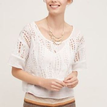 Tracy Reese Cutwork Lace Top