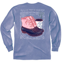 Lily Grace Long Sleeve Tee- Prep in Your Step
