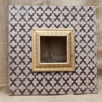 5x5 Clover Wood Distressed Hand Painted PIcture Frame by ellachamp