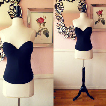 Victoria's Secret Black Bustier 36D by TheEnchantedBride on Etsy