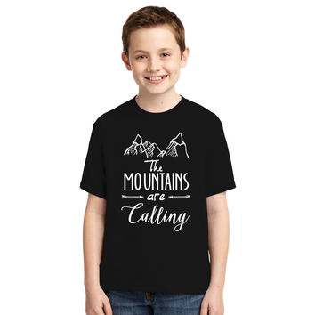 The Mountains Are Calling And I Must Go Youth T-shirt