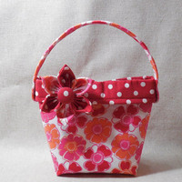 Adorable Red and Orange Floral Little Girls' Purse