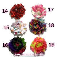 Set of 5 shabby chic hair clips you choose style - flower hair clip hair bow for toddlers teen little girls