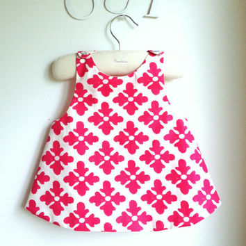 Girls Dress - Reversible Pinafore Top - French Style - The Marie-Antoinette - Sizes for babies, girls and toddlers from 6 months to 5Y