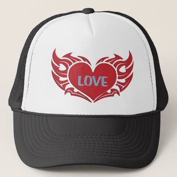 Winged Heart Trucker Hat