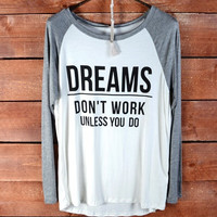 Dreams Come True Tee - Grey