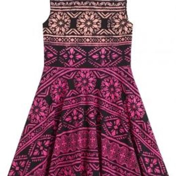 High Neck Fit & Flare Dress | Girls Clearance Dresses Sale & Clearance | Shop Justice