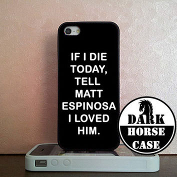 Loved Matt Espinosa Magcon Custom For iPhone 4/4S/5/5S/5C and Samsung Galaxy S3/S4/S5 Case By (DarkHorseCase)