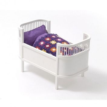 Smallstuff Rosaline Doll Bed Cot White - Leo & Bella