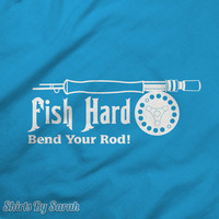 Funny Fishing T-Shirt - Bend Your Rod Shirt Fisherman Fish Shirts Tees For Men & Women Unisex
