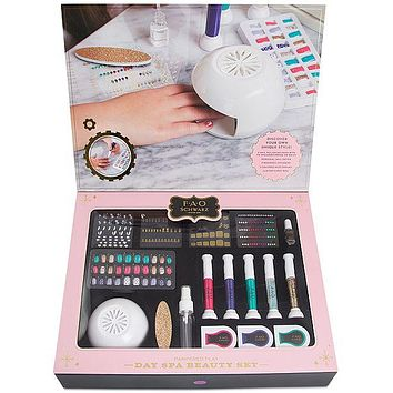 FAO Schwarz 76 Piece Pampered Kids Play Day Spa Beauty Set w Nail Dryer