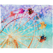 Lisa Argyropoulos Galaxy Wheel Fleece Throw Blanket