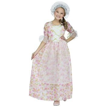 Colonial Girl Costume - Kids (Blue)