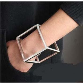 ROMINA Alloy Cube Cut Out Bracelet - Jessica Buurman