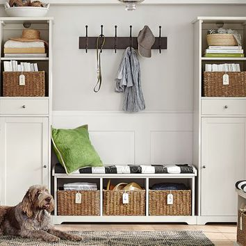 Samantha 3-Piece Bench & Storage Tower Entryway Set