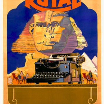 Royal Typewriter Co Advertisement by A.C. Arp Fine Art Print
