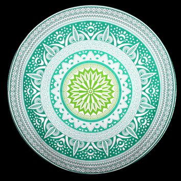 Roundie Beach Throw Tapestry Hippy Boho Gypsy Cotton Tablecloth Beach Towel , Round Yoga Mat 11594 147cm*147cm