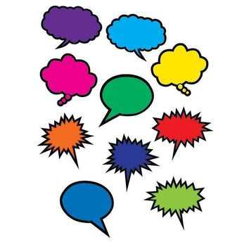 COLORFUL SPEECH THOUGHT BUBBLES