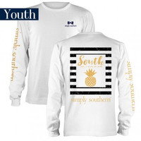 Simply Southern Youth Prep Pine Long Sleeve T Shirt