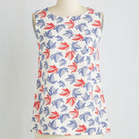 Vintage Inspired Mid-length Sleeveless Go Out on a Limn Top by ModCloth