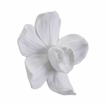 Orchid Small Wall Decor White