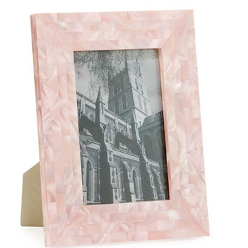 The Jws Collections Mother-of-Pearl Frame, Pink, 4 x 6