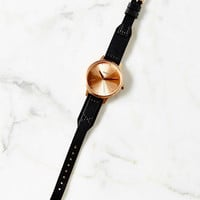 Nixon Kensington Leather Rose Gold Watch - Urban Outfitters