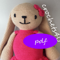 crochet pattern bunny girl with dress / direct download pdf / no sewing / pattern